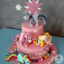 Tort Micul meu ponei - My little pony: Twilight Sparkle și cutie mark-ul ei, Pinkie Pie, Fluttershy, Rainbow Dash și bile colorate